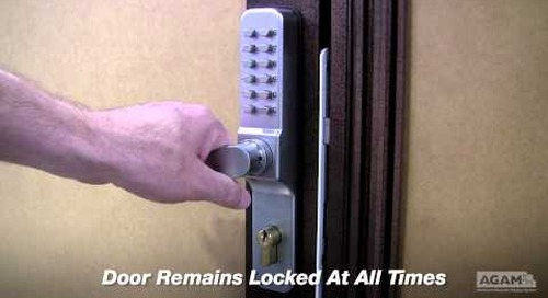 Combination Door Lock featured on Aluminum Door Frame