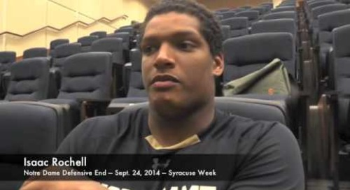 Notre Dame DE Isaac Rochell - 9/24/14 - Syracuse