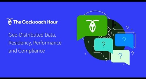 Geo-distributed Data, Data Residency, App Performance & Compliance
