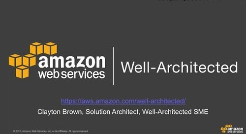 An introduction to the well architected framework