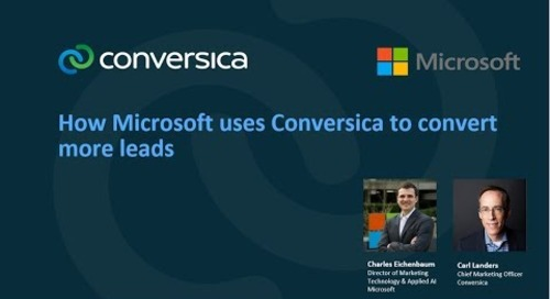 How Microsoft Uses Conversica to Convert More Leads