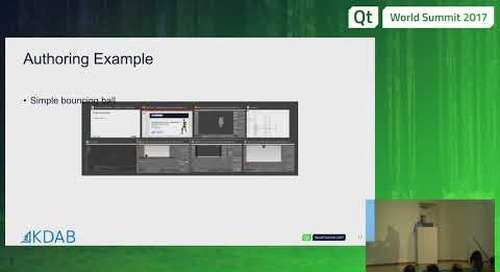 QtWS17 Breathing life into your applications: Animation with Qt 3D, Sean Harmer, KDAB