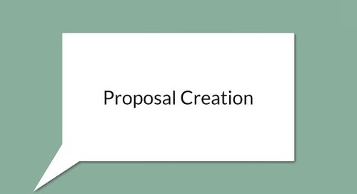 Streamline Proposal Creation