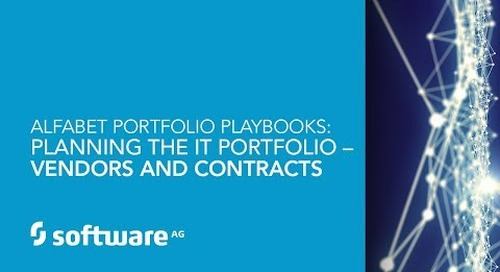 Alfabet Portfolio Playbooks: Planning the IT Portfolio – Vendors and Contracts