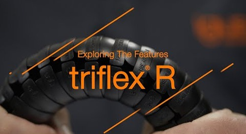 Exploring the features - triflex® R for robot cable management