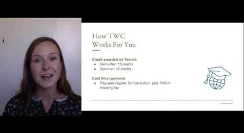 How TWC Works for Temple Students