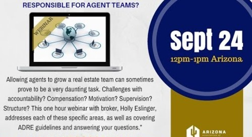 How To Build Your Real Estate Teams 9.24.2015