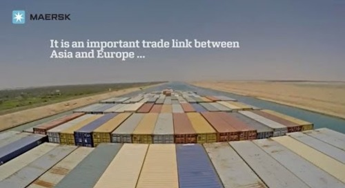 Maersk - Timelapse of Adrian Mærsk sailing down the expanded Suez Canal