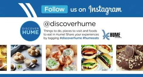 Follow Discover Hume Instagram