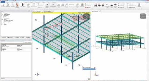 Gravity Loading in Tekla Structural Designer