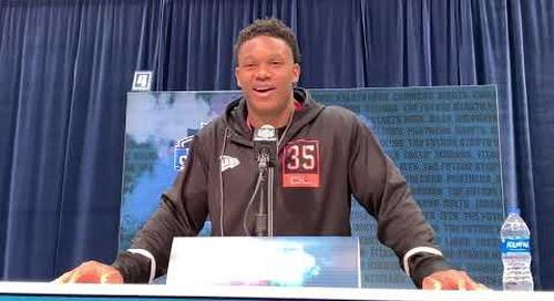 Notre Dame's Defensive End Julian Okwara at 2020 NFL Combine