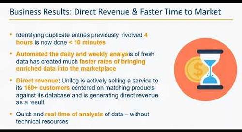 Monetizing Big Data: Paxata Customer Case Study with Unilog