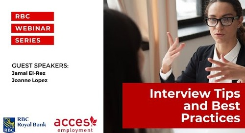 RBC Royal Bank Webinar: Interview Tips and Best Practices