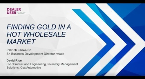 Fall Expo 2021 Replay | Finding Gold in a Hot Wholesale Market | vAuto