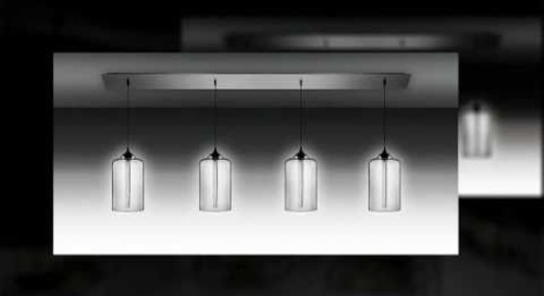 Linear 4 Modern Chandelier Lighting