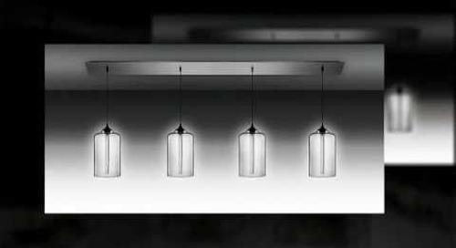 Linear 4 Modern Chandelier Lighting