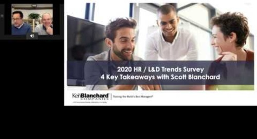 2020 L&D Trend Survey: 4 Key Takeaways