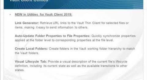 What's New in IMAGINiT Utilities for Vault 2019