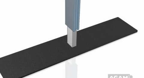 AGAM Rectangle Floor Base Using 625 Stem 104