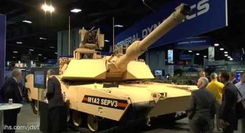 AUSA 2015- GD Land Abrams M1A2SEPV3 MBT