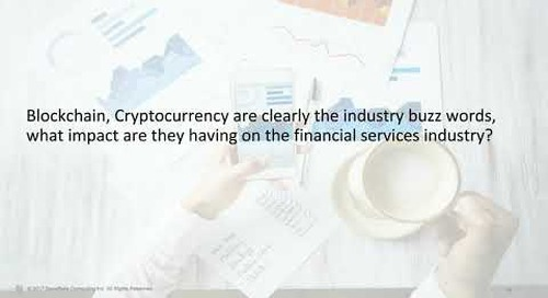 Webinar: Real-Talk on Financial Services Analytics: How Blockchain applies to data as a currency