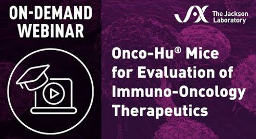 Onco-Hu Mice for Evaluation of Immuno-Oncology Therapeutics