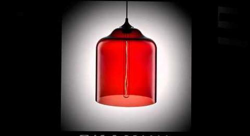 Niche Modern Handmade Pendant Lights in Crimson