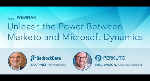 Marketo and Microsoft Dynamics Webinar Series: Issues with the Native DCRM and Marketo Connector