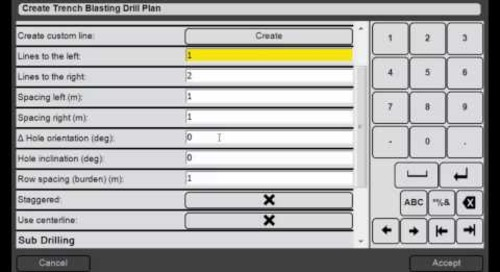 23. Trimble DPS900 V1.2 - Drill Plan Manager: How to Create Trench Blasting Drill Plans