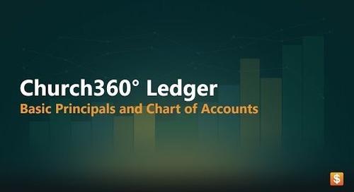 Church360° Ledger   Basic Principles & Chart of Accounts