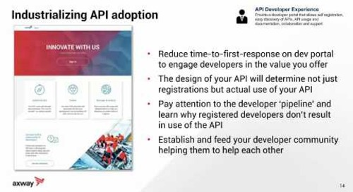 Industrializing API adoption with a Developer Portal