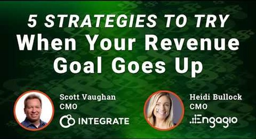 5 Strategies to Try When Your Revenue Goals Go Up  |  Engagio