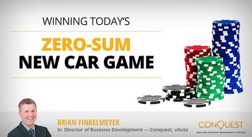 Winning Today's Zero-Sum Car Game