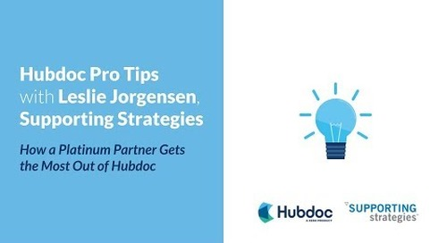 Hubdoc Pro Tips with Leslie Jorgensen, Supporting Strategies: How a Platinum Partner Gets the Most Out of Hubdoc