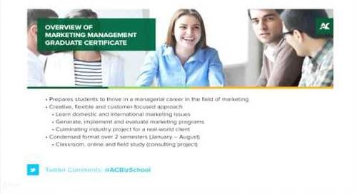 Marketing Management Webinar - Algonquin College