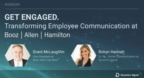 Transforming Employee Communication at Booz Allen