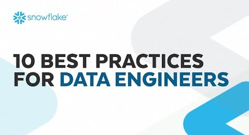 Webinar: 10 Best Practices for Data Engineers
