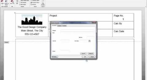Creating Tekla Tedds Document Templates