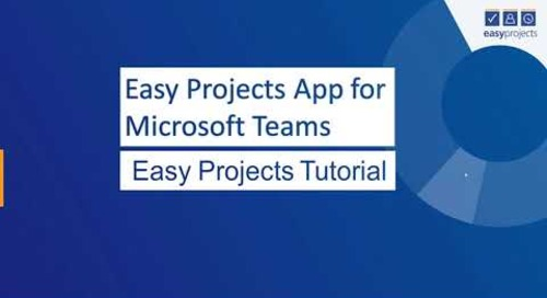 Easy Projects App for Microsoft Teams