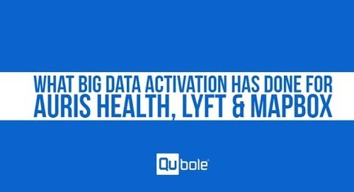See how Qubole powers big data activation for Auris Health, Lyft & Mapbox.