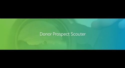 VIDEO: Blackbaud Donor Prospect Scouter