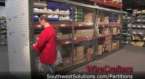 Enclosing Pallet Racks with Wire Partitions for Inventory Security Control