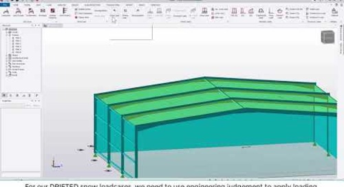Tekla Structural Designer 2020 - Automating snow loading, using the Snow Wizard