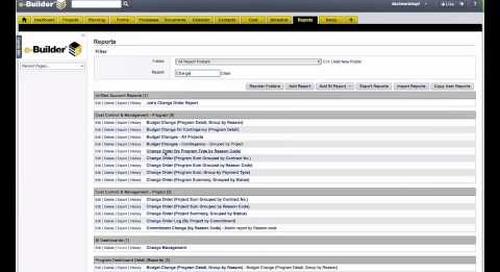 e-Builder: Business Intelligence for Measuring Construction Program Performance