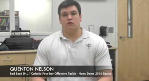 Notre Dame Signee Quenton Nelson Talks Irish