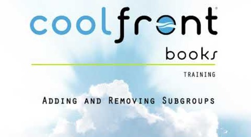 Coolfront Books - Adding and Removing Subgroups