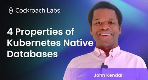 Kubernetes Native Databases
