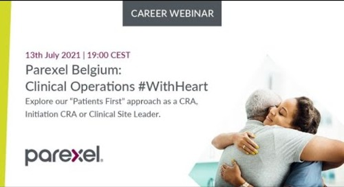 Parexel Belgium Online Seminar Clinical Operations #WithHeart