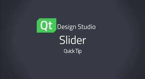 Qt Design Studio QuickTip: Slider Control