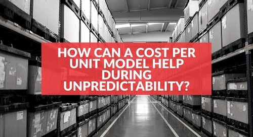 How can a cost per unit model help during unpredictability?